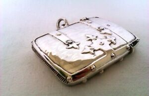 Extremely Rare & Beautiful Solid Silver Strap Work Arts & Crafts Vesta Case 1913