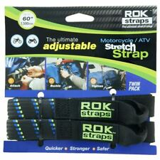 "ROK Straps Motorcycle Bike ATV HD 1500mm 60"" Adjustable Black Blue Green New"