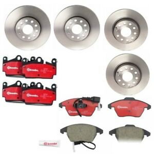Audi A3 Volkswagen Beetle Golf Front and Rear Disc Brake Rotors And Pads Kit