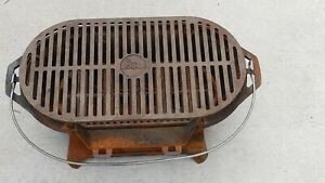 Lodge Sportsman's Cast Iron Grill BBQ Outdoors Portable Made in USA! Hibachi