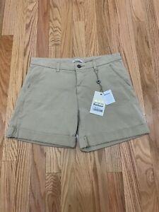 Barbour Essential Shorts Womens Sz 12 Stone NWT $99 Stretch