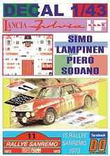 DECAL 1/43 LANCIA FULVIA HF S.LAMPINEN R.SANREMO 1973 8th (07)