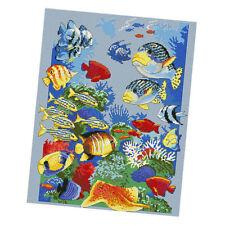 Kreuzstich Vorlagen Stickpackung Set Fische Muster zum Sticken, Stickvorlage