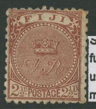Fiji SG84 1892 21/2d Chocolate Fine Used