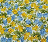 A Year In The Meadow April BTY Hoffman International Yellow Orange Blue Floral