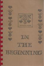 *MILWAUKEE WI 1986 MOUNT CARMEL LUTHERAN CHURCH RARE COOK BOOK *IN THE BEGININNG