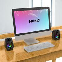 Computer PC Speakers Desktop Stereo 2.0 USB Multimedia Speaker