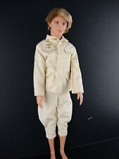 Ken Doll 2 piece Outfit Cream Colored Shirt and Pants Made to Fit the Ken Doll