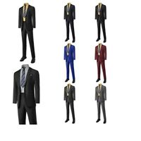 FashionOutfit Men's Formal Business Wedding Bridegroom Top and Bottom Set Suit
