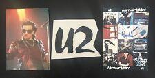 Vintage Rare U2 (2) 4X6 Uk Post Cards (1)2X4 Rub Off Sticker Total Lot of(3)Mint