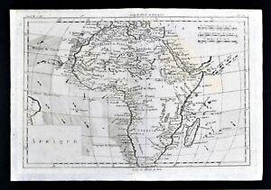 c 1780 Bonne Map Africa Egypt Nubia Ethiopia Madagascar Angola Zanzibar Guinea