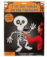 Halloween Party Game Childrens Pin The Smile Skeleton Kids Activity Set
