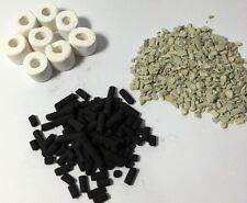 BIO ceramica Anelli 500g + Activ CARBONIO 500g + Zeolite 200g + Net Sacchetti Filtro dei mezzi di comunicazione,