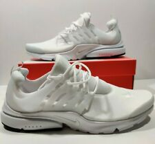 Mens Nike Air Presto Essential Running Shoes Triple White 848187-100 Size 13