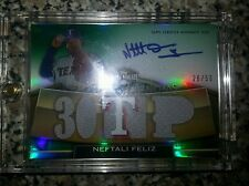 2011 topps triple threads Neftali Feliz auto jersey serial #ed 26/50
