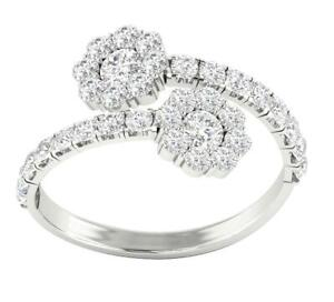 Forever Us Two Stone Solitaire Ring I1 G 1.75 Ct Natural Diamond 14K White Gold