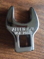 """ALLEN 20555, 5/8"""" Opening, Chrome Crowfoot Wrench, 3/8"""" Drive"""