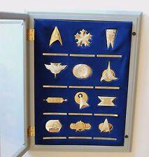 Franklin Mint Star Trek 12 Solid Silver Official Insignia Badges & Case