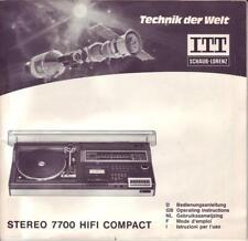 Schaub-Lorenz STEREO 7700 HI-FI COMPACT manuale d'uso