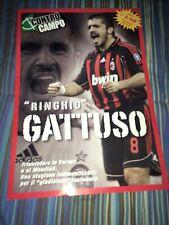 6 Poster Di Gattuso Controcampo Milan Ac Nazionale Italiana Scudetto Champions
