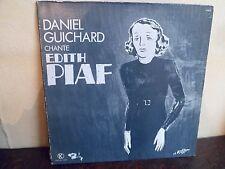 "LP 12"" DANIEL GUICHARD chante Edith Piaf - VG+/MINT - BARCLAY - 598051 - FRANCE"