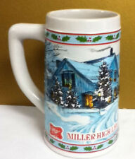Miller High Life limited edition holiday beer stein steins 1 Christmas theme Rw7