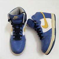 Nike Dunk High 2007 Shoes Royal Blue Yellow 317982-471 Mens Size 6.5 Womens Sz 8