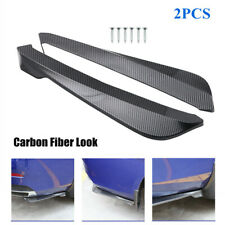 2PC Rear Lip Wrap Angle Shovel Splitters Bumper Spoiler Canard Diffuser Winglet