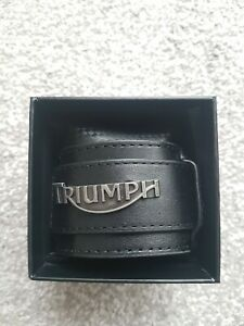 Triumph Motorcycles Mens Leather Wristband MJWS14241 New In Gift Box