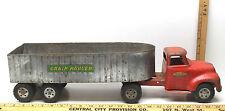 Tonka Toys Grain Hauler Vintage Pressed Steel Toy Truck Farm Semi Trailer Silage