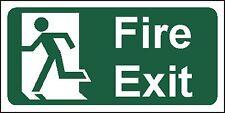 Fire Exit Uscita finale lasciati in esecuzione uomo SIGN 1MM plastica rigida. 30x15cm. IVA Inc!