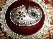 Great gift for the Artist - Vintage Silver Plate Artist's Palate Brooch -
