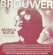 LEO BROUWER + CARLOS FARIÑAS-MUSICA NUEVA LP VINILO