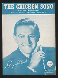 Chicken Song (I Ain't Gonna Take It Sittin Down) '51 Guy Lombardo Sheet Music