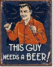 * Retro-Vintage-Motiv Bier Biertrinker Beer Kneipe Repro Schild Poster Deko *575