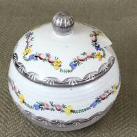 Vintage Honey Jar Pot Hand Painted German Pottery Gmunden Keramics Jam Preserve