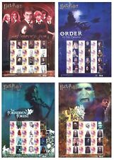 2007 INDONESIA - HARRY POTTER - 4 DIFFERENT STAMP SHEETLETS - 48 STAMPS Mint MUH