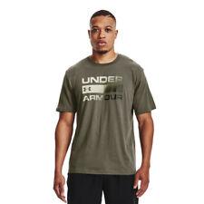 Under Armour Mens Team Issue Wordmark Short Sleeve T Shirt Tee Top Green Sports