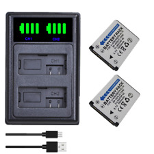 2x NP-80 NP-82 Battery+ LCD Dual Charger For CASIO EX-S8 ZS5 ZS6 ZS100 N10 N20