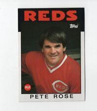 1986 Topps Pete Rose #741 Baseball Card Cincinnati Reds MGR