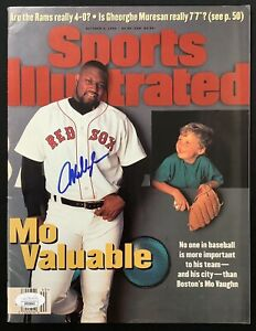 Mo Vaughn Signed Sports Illustrated Mag 10/2/95 No Label Red Sox Autograph JSA