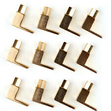 12 Pcs Brass Speaker Fork Terminal Spade For 4mm Banana Plug Adapter S T2.