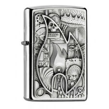 ZIPPO  Various Emblem  CHROM Platte  NEU 2017  Ausverkauf