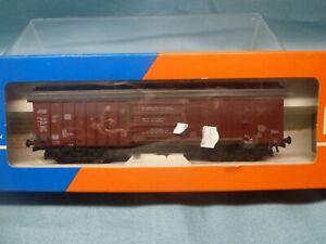 ROWA 4358 'HO' DB SWINGING ROOF CONTAINER WAGON ~ BOXED
