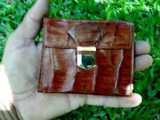 Vintage wallet leather crocodile for men