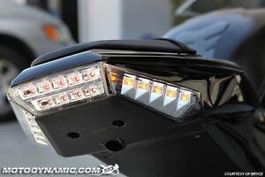 2011-2015 Kawasaki Ninja ZX-10R Rear Panel Sequential LED Turn Signal Clear Lens