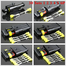 New listing 30Set Sealed Waterproof 1 2 3 4 5 6Pin Electrical Wire Connector Plug Motorcycle