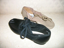 Capezio Split Sole Jazz Shoe Dance Tan Black 358 Adult New In Box