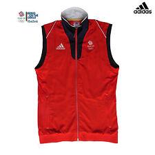 ADIDAS TEAM GB 2016 RIO OLYMPICS ELITE ATHLETE RED VEST GILET Size 40/42