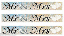12 Feet Mr And Mrs Wedding Party Foil Banner Decoration Wall Couple Banners